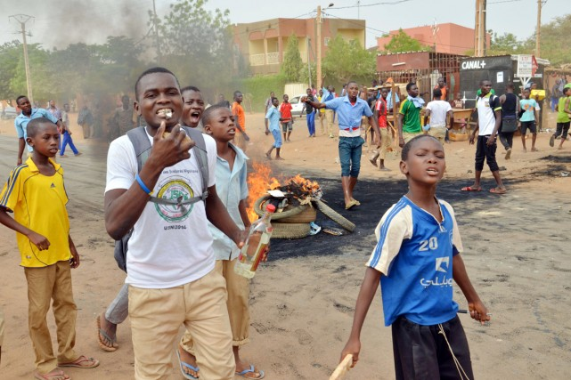 NIGER-centaines-etudiants-protestaient-contre-retards